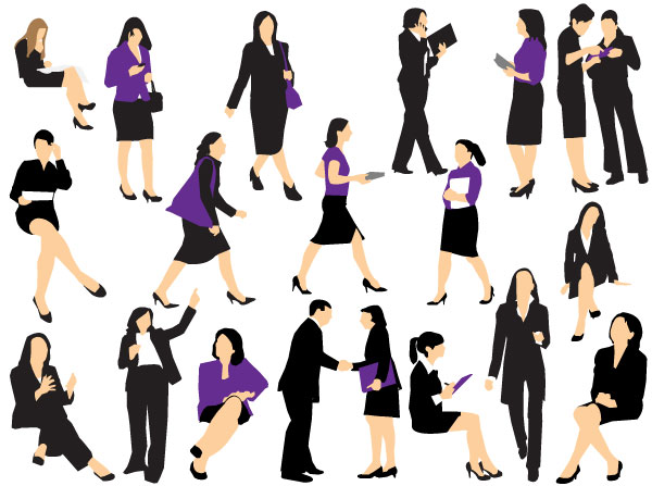 055_business-woman-silhouettes-vector-l